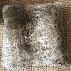 Nicole Miller Home Leopard Faux Fur Pillow